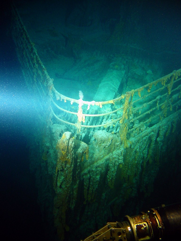 Titanic Bow 768x1024 Titanic Underwater