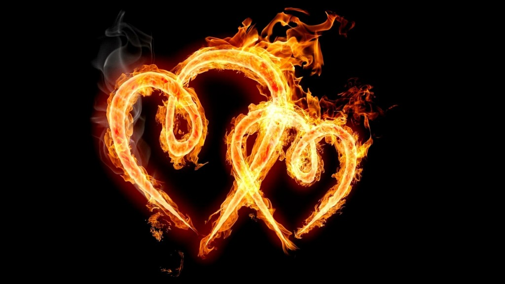 cuori fiamme 1024x576 Love Symbol