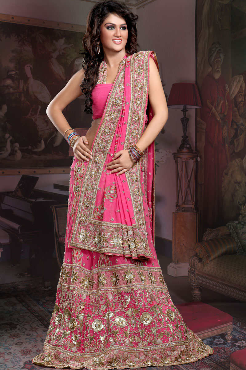 South asian bridal wear on pinterest lehenga choli for Punjabi wedding dresses online