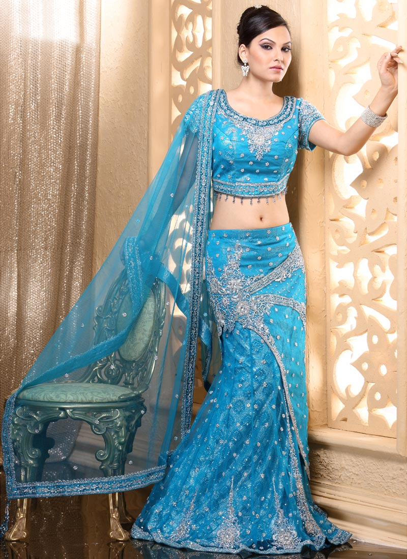 Blue Indian Wedding Dresses - Wedding Dresses In Jax