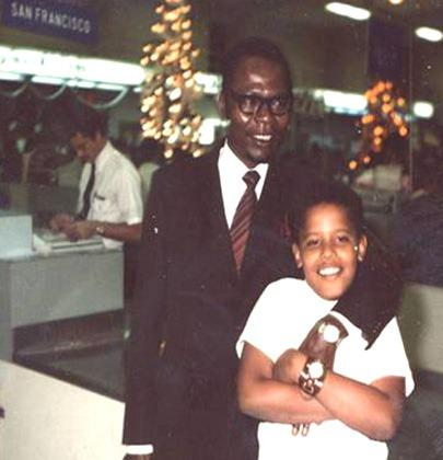 Obama With Father Obama Childhood Photos