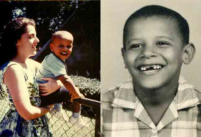 Obama Childhood With Mother Obama Childhood Photos