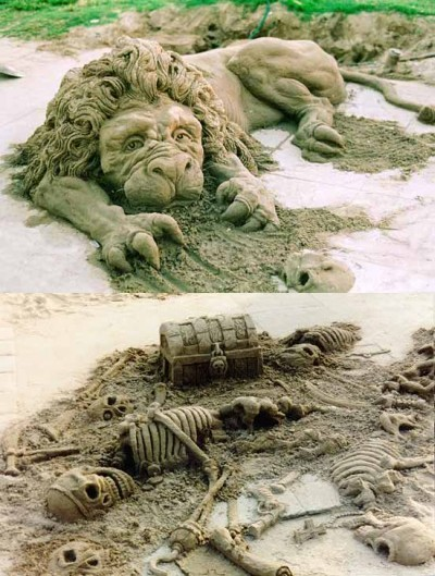 Sand sculptures  Florida Amazing sand sculptures