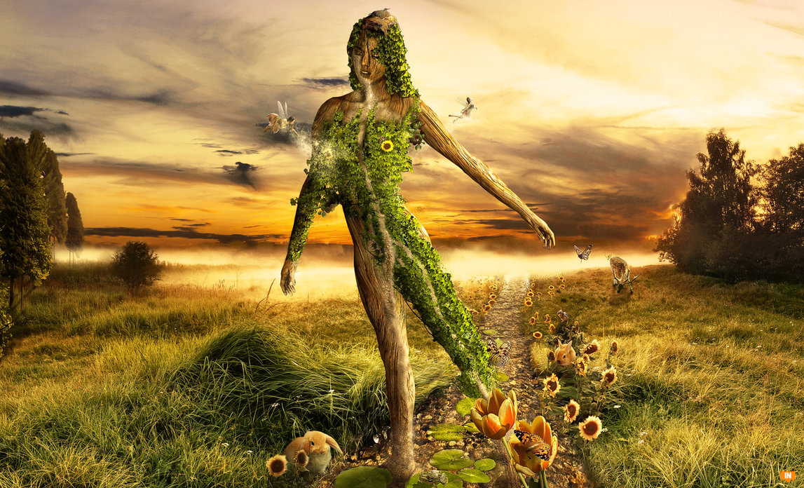 Mother Nature by FatherofGod Girls In Photoshop