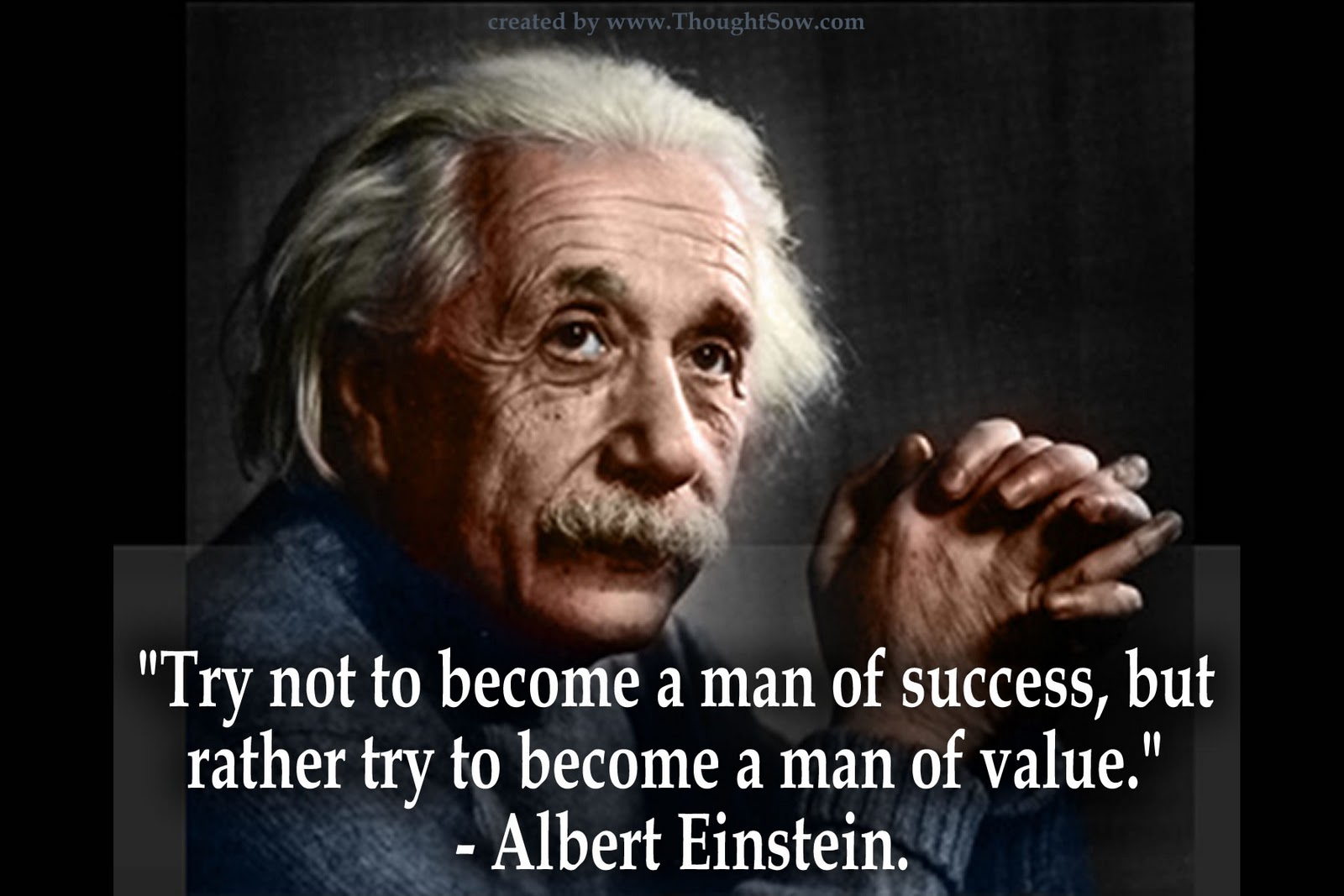 albert einstein success value large Albert Einstein