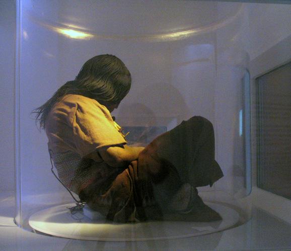 inside crystal 500 year old mummy
