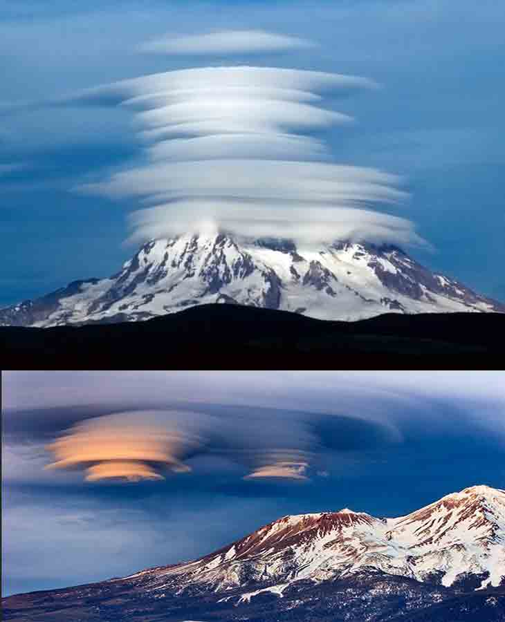 Mount Shasta Volcano Weird Cloud California  Attractions